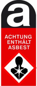 vorsicht: Einatmen von Asbest